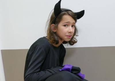 enfant déguisé en diablotin